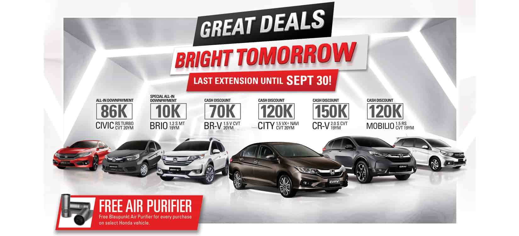 Honda announces final extension of huge cash discounts, other great deals this September