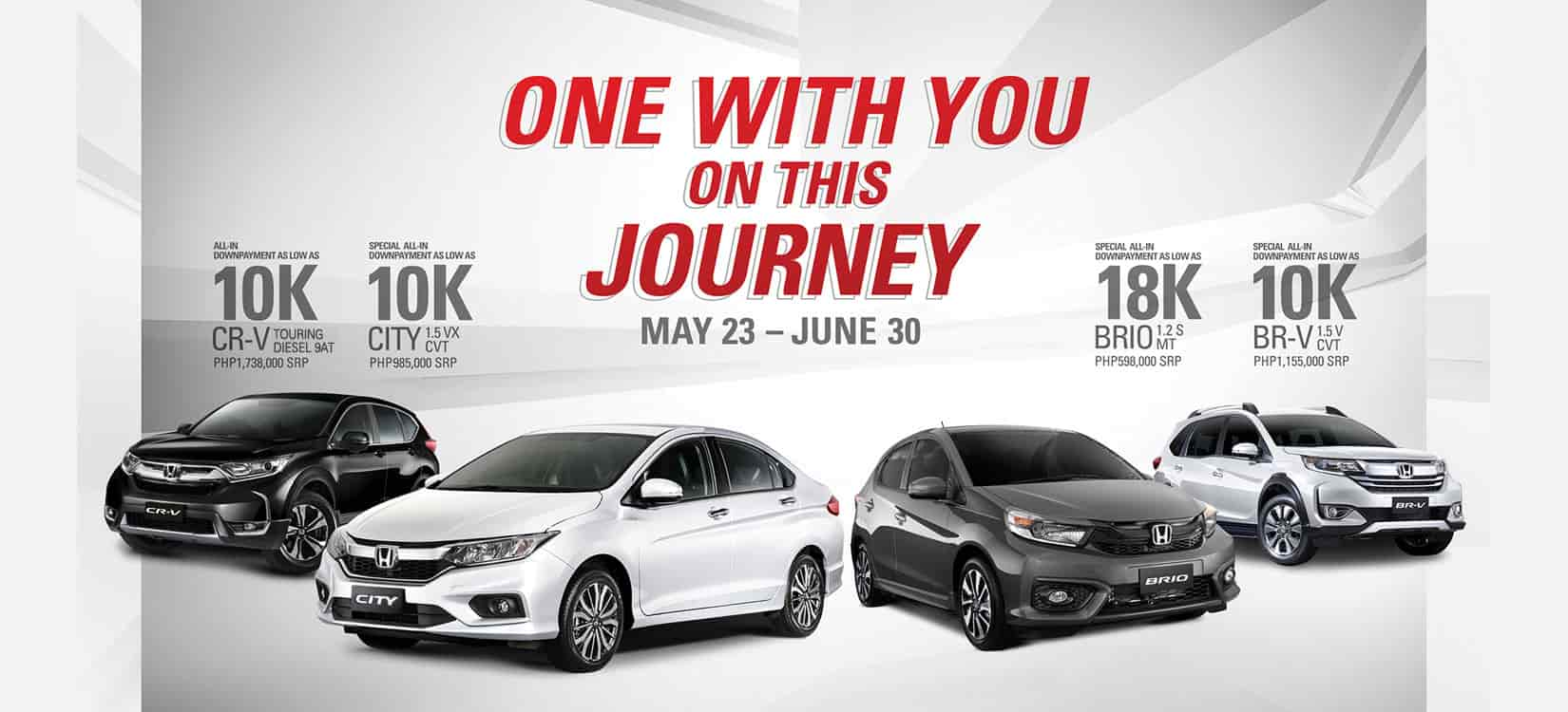 Honda Announces its Promos for May 2020